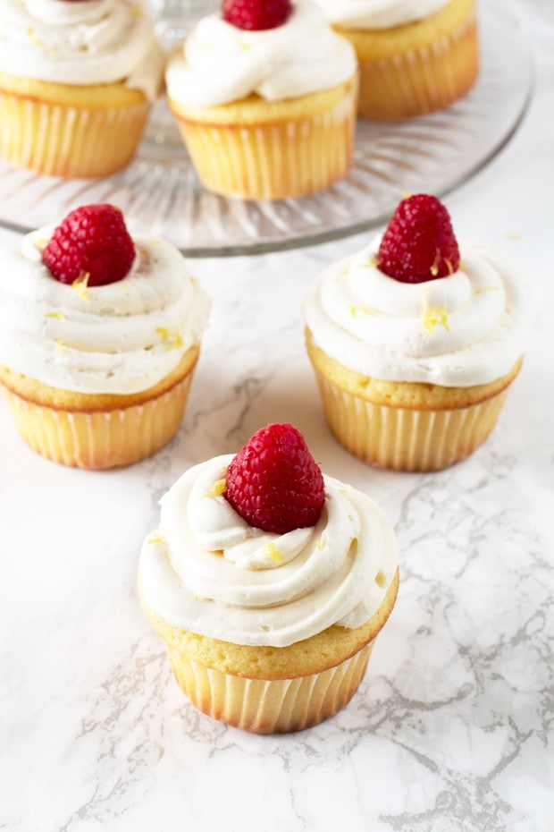 These cupcakes have just the right amount of lemon in the moist cake ...