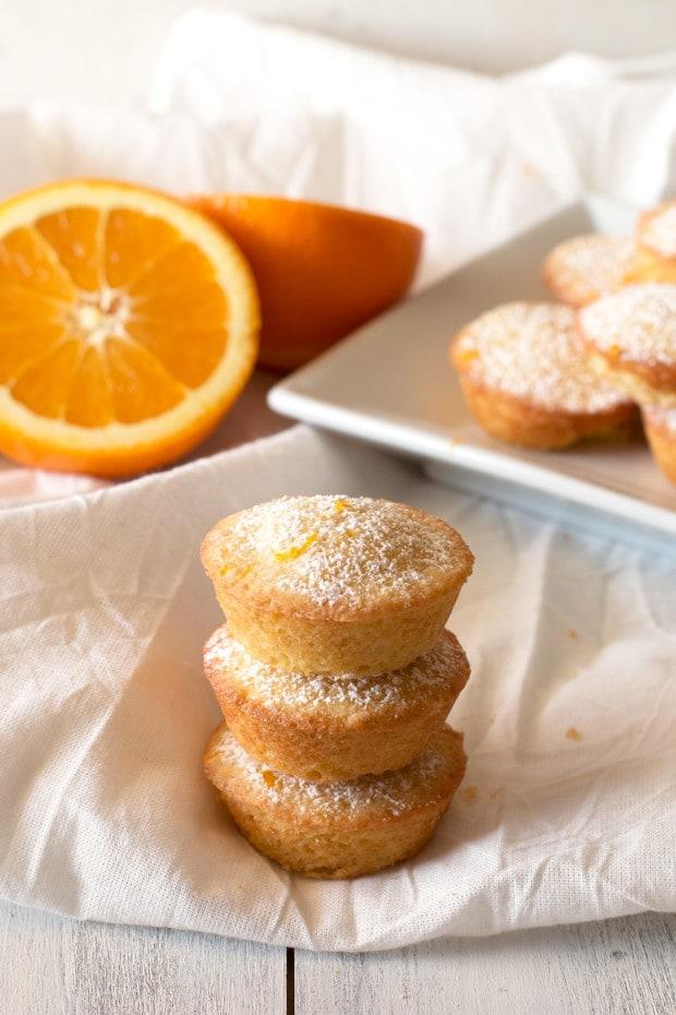 Orange Madeleine Mini Muffins   cakenknife.com