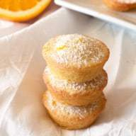 Orange Madeleine Mini Muffins | cakenknife.com