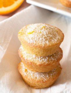 Orange Madeleine Mini Muffins | cakenknife.com