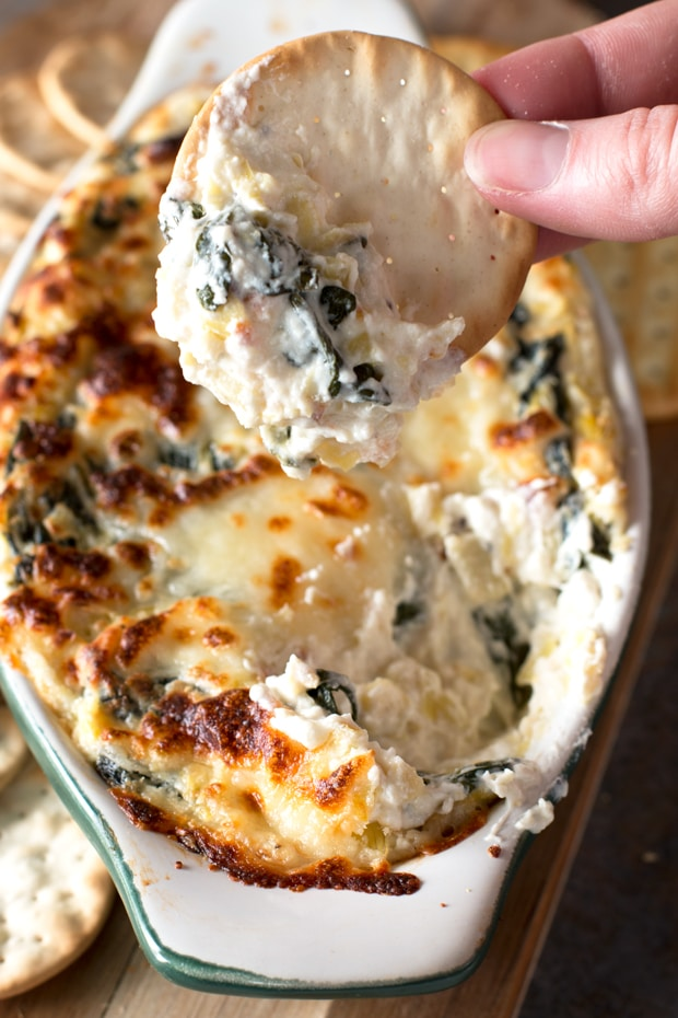 Spinach and Artichoke Goat Cheese Dip – Cake 'n Knife