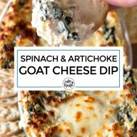 Spinach and Artichoke Goat Cheese Dip