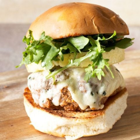 Tropical Buffalo Blue Cheese Turkey Burgers