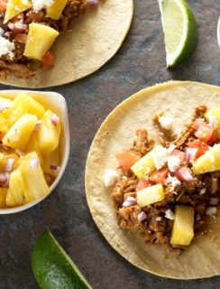Slow Cooker Tacos Al Pastor | cakenknife.com