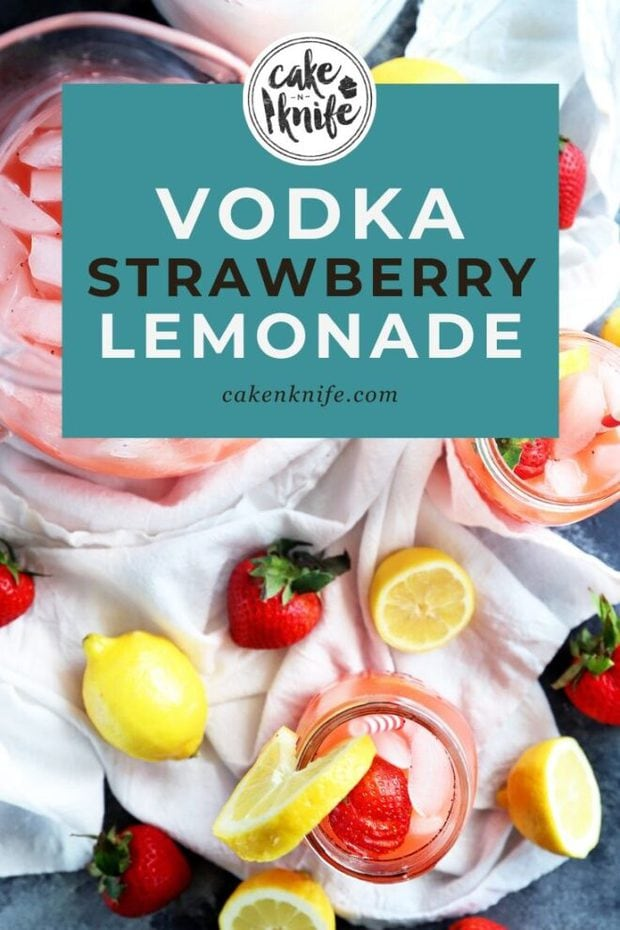 Vodka strawberry lemonade pinterest image
