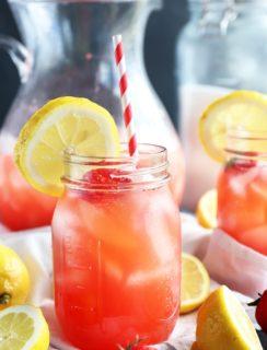 Vodka strawberry lemonade cocktail thumbnail image