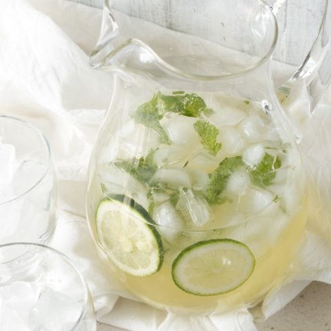 Ginger Mint Prosecco Punch
