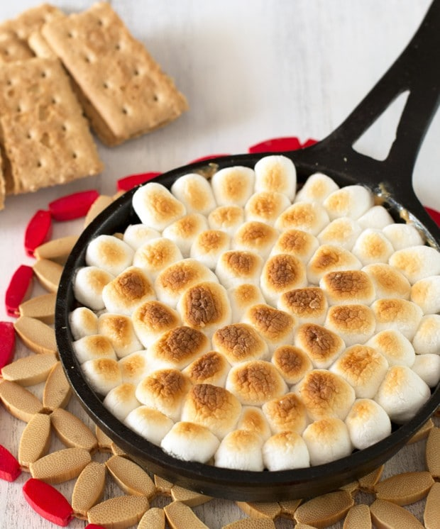 Peanut Butter Mini Skillet S'mores | cakenknife.com