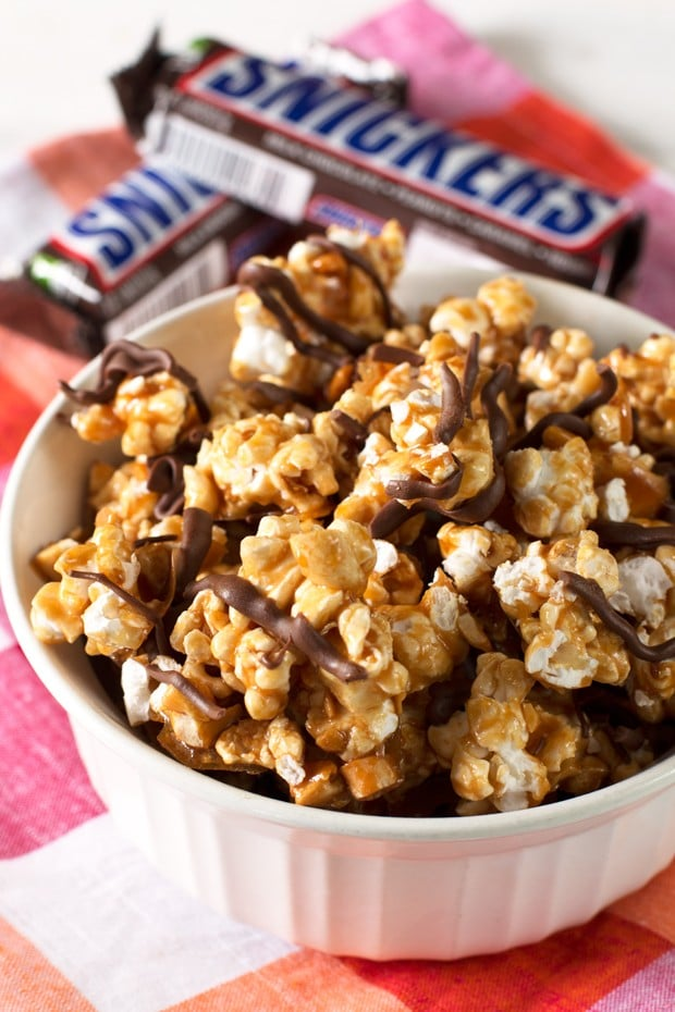 Snickers Popcorn | Back To School Clean Eating Snacks | Homemade Recipes