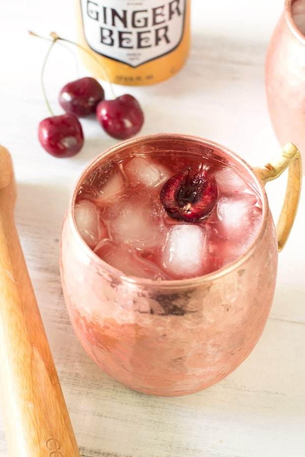 Very Cherry Moscow Mule | cakenknife.com