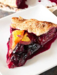 Peach and Blueberry Galette | cakenknife.com