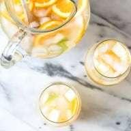 Pear Ginger White Sangria | cakenknife.com