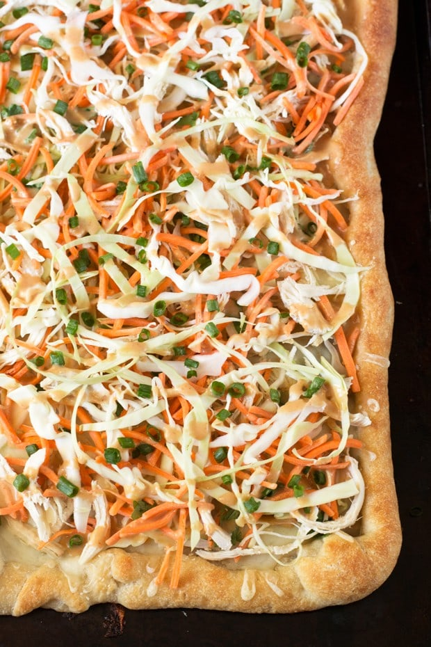 Thai Chicken Pizza | cakenknife.com