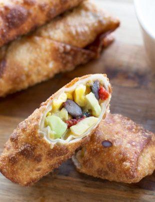 Southwestern Avocado Egg Rolls   cakenknife.com