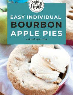 Easy Individual Bourbon Apple Pies Pinterest Image