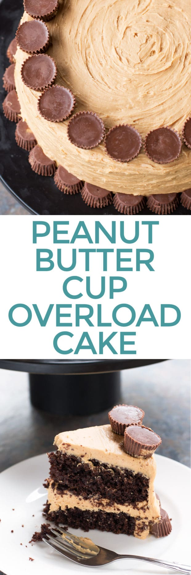 Peanut Butter Cup Overload Cake | cakenknife.com