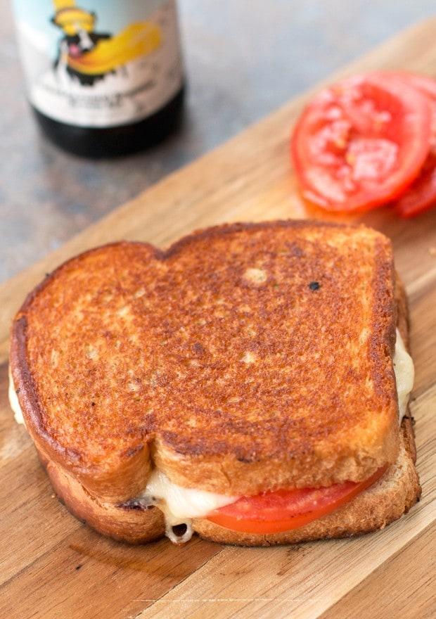 Tomato & Provolone Grilled Cheese with Kalamata Olive Chutney Recipe | cakenknife.com