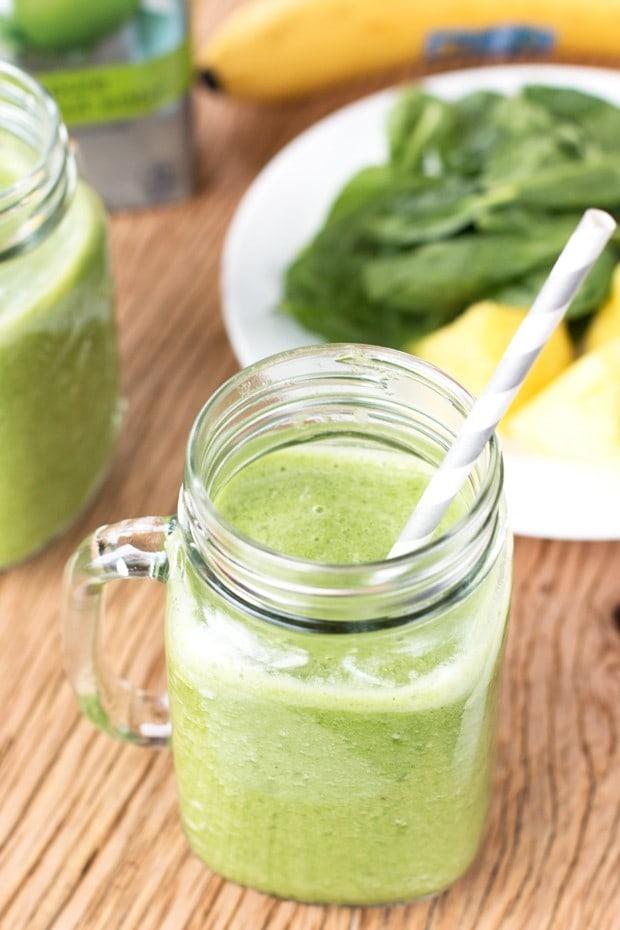 Tropical Green Smoothie Recipe   cakenknife.com