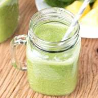 Tropical Green Smoothie Recipe | cakenknife.com