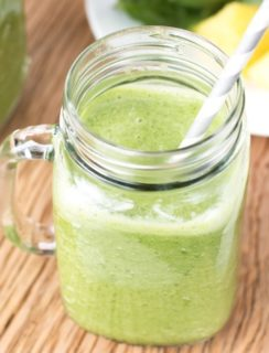 Tropical Green Smoothie Recipe | cakenknife.com
