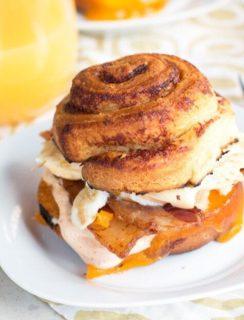 Ultimate Mountain Breakfast Sandwich Recipe | cakenknife.com