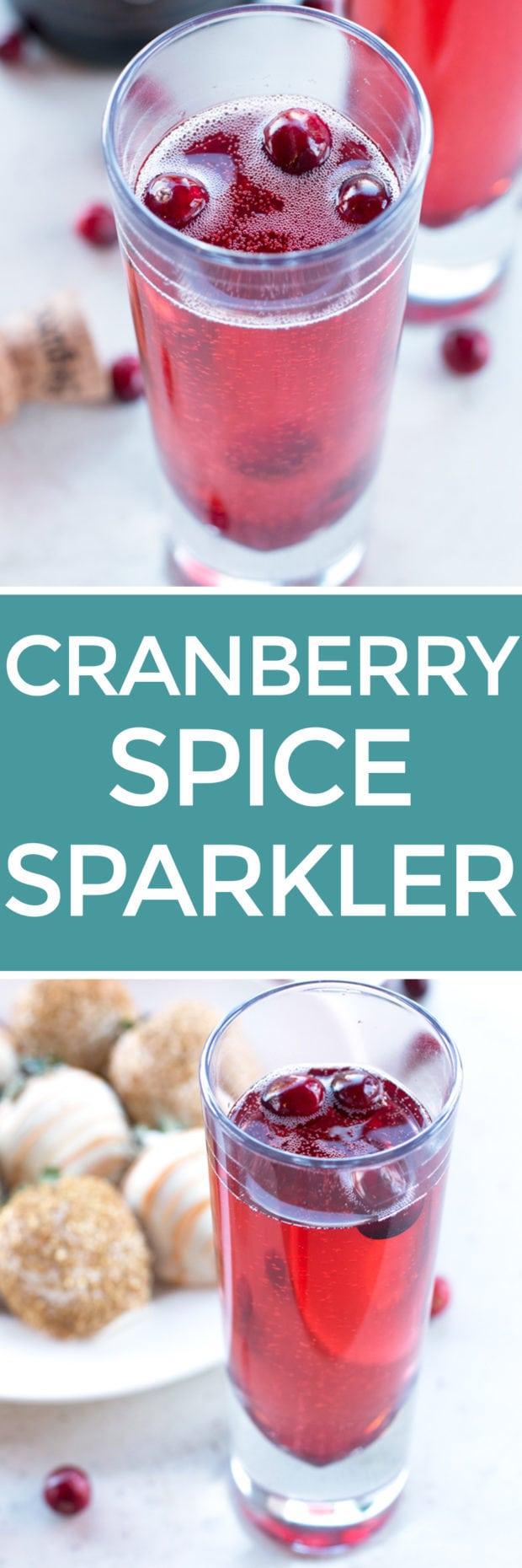 Cranberry Spice Sparkler | cakenknife.com #thanksgiving #cocktail