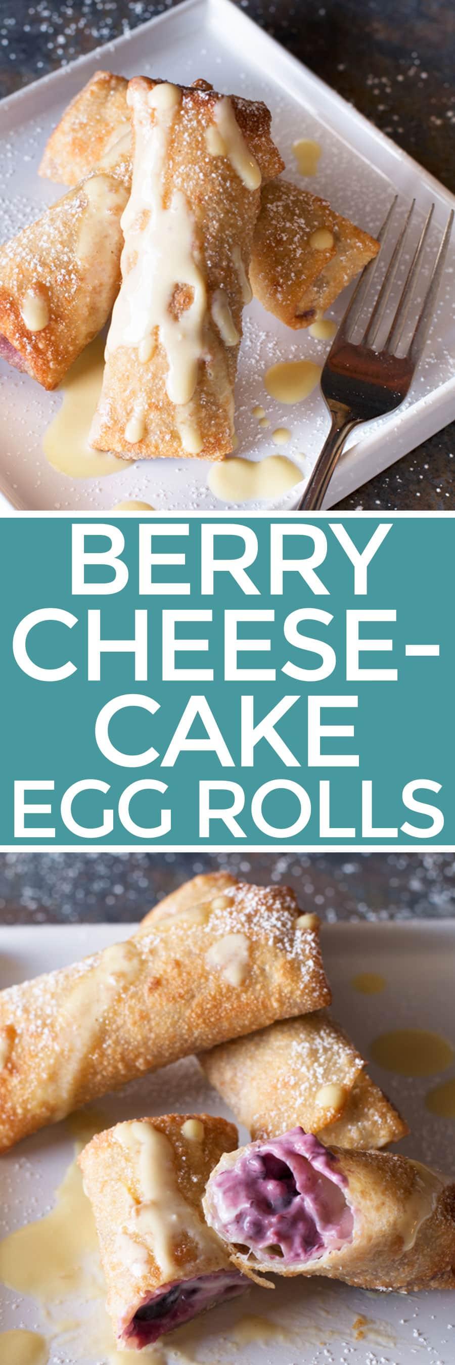 Berry Cheesecake Egg Rolls | cakenknife.com