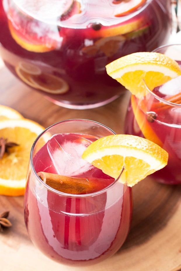 Big Batch Holiday Sangria | cakenknife.com