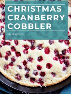 Christmas Cranberry Cobbler Pinterest Graphic