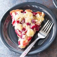 Christmas Cranberry Cobbler