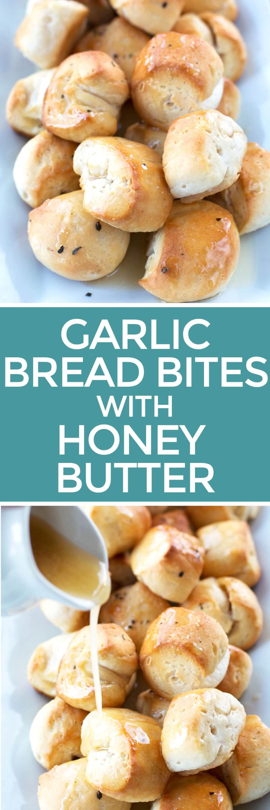 Garlic Bread Bites with Honey Butter | cakenknife.com