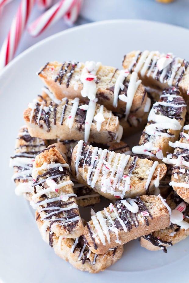 Peppermint Chocolate Chip Biscotti   cakenknife.com