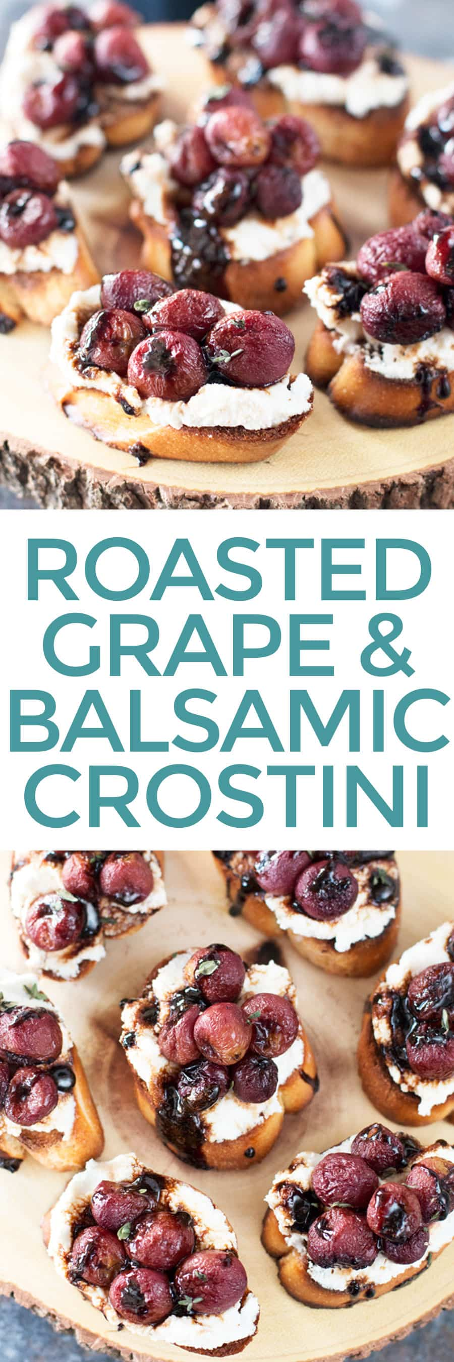 Roasted Grape and Balsamic Crostini | cakenknife.com