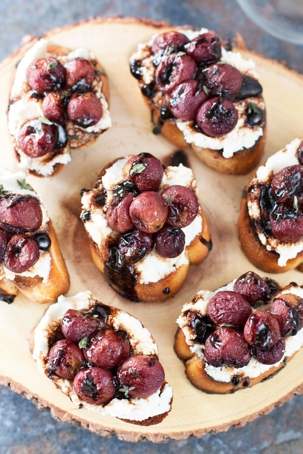 Roasted Grape & Balsamic Crostini   cakenknife.com