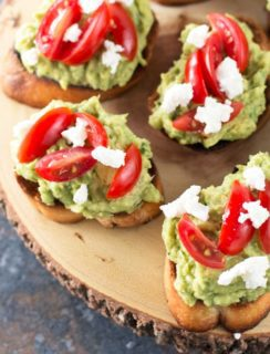 Avocado Goat Cheese Crostini | cakenknife.com