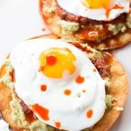 Breakfast Guacamole Tostadas | cakenknife.com