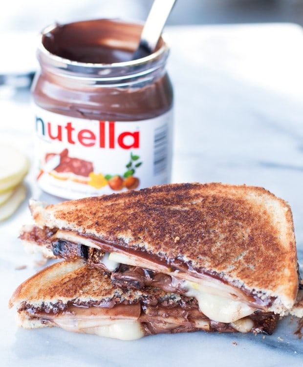 Grilled Nutella, Brie, Pear & Fig Sandwich   cakenknife.com