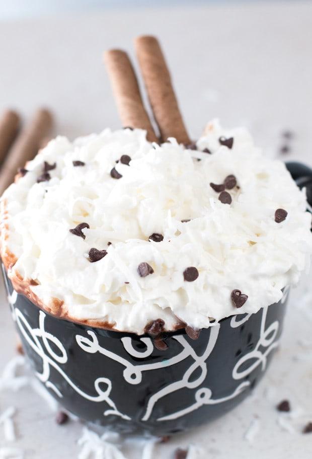 The Ultimate Boozy Coconut Hot Chocolate | cakenknife.com