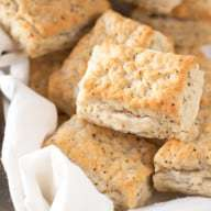 Black Pepper Goat Cheese Biscuits | cakenknife.com
