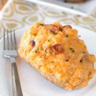 Cajun Shrimp & Andouille Sausage Stuffed Potatoes | cakenknife.com