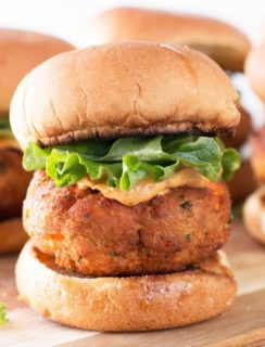 Salmon Cake Sliders with Spicy Mayo & A KitchenAid Giveaway! | cakenknife.com