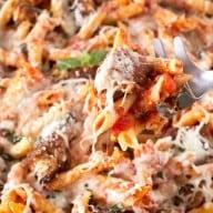 Chicken Parmesan Pasta Skillet | cakenknife.com