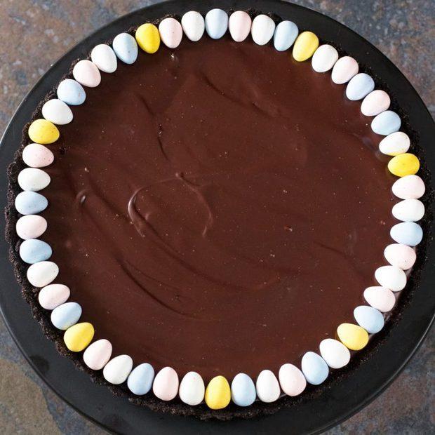 Chocolate Bourbon Caramel Tart