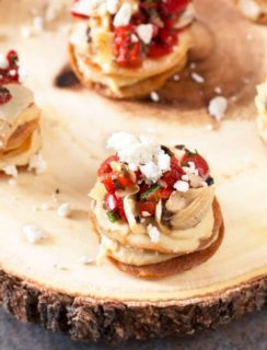 Greek Hummus Mini Tostada Stacks | cakenknife.com