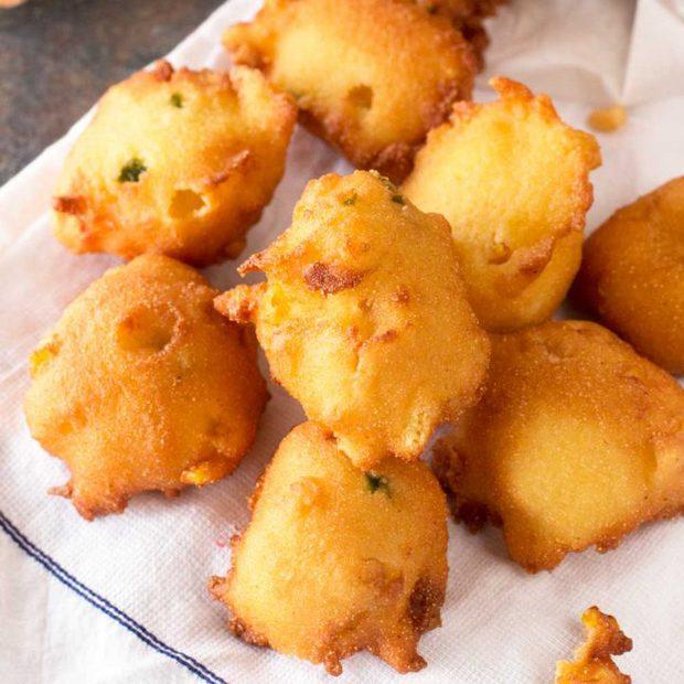 Jalapeno Agave Cornbread Fritters | cakenknife.com