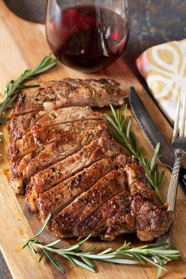 The Perfect Ribeye Steak + A Le Creuset Giveaway! | cakenknife.com