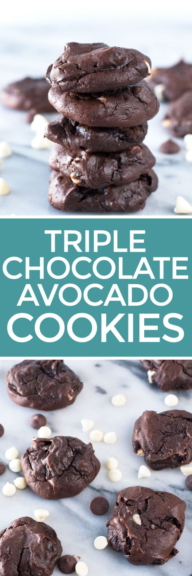 Triple Chocolate Avocado Cookies | cakenknife.com