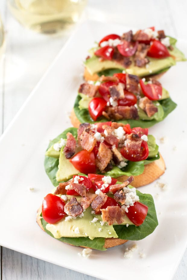 BLAT Blue Cheese Crostini | cakenknife.com