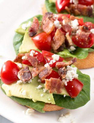 BLAT Blue Cheese Crostini | cakenknife.com