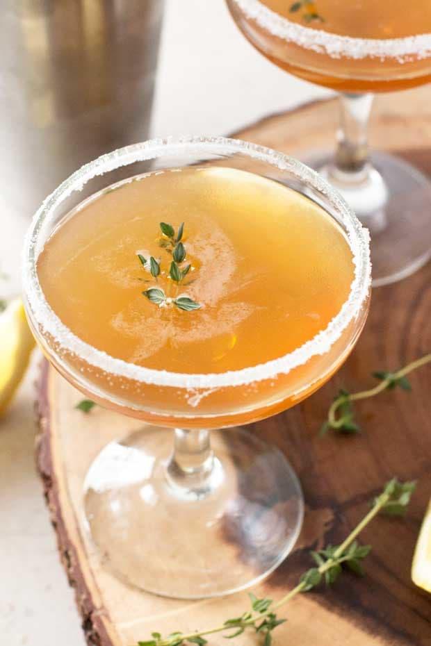 Lemon Thyme Sidecar | cakenknife.com